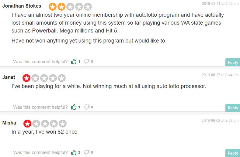 auto lotto processor scam complaints