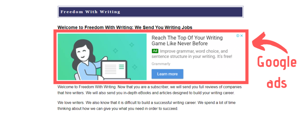 freedom with writing scam