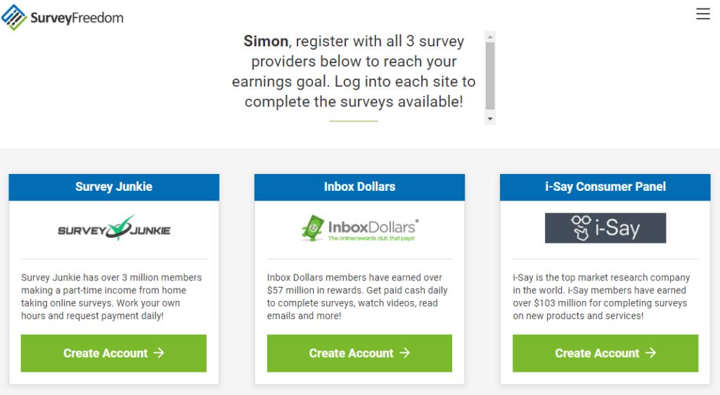 surveyfreedom com screenshot