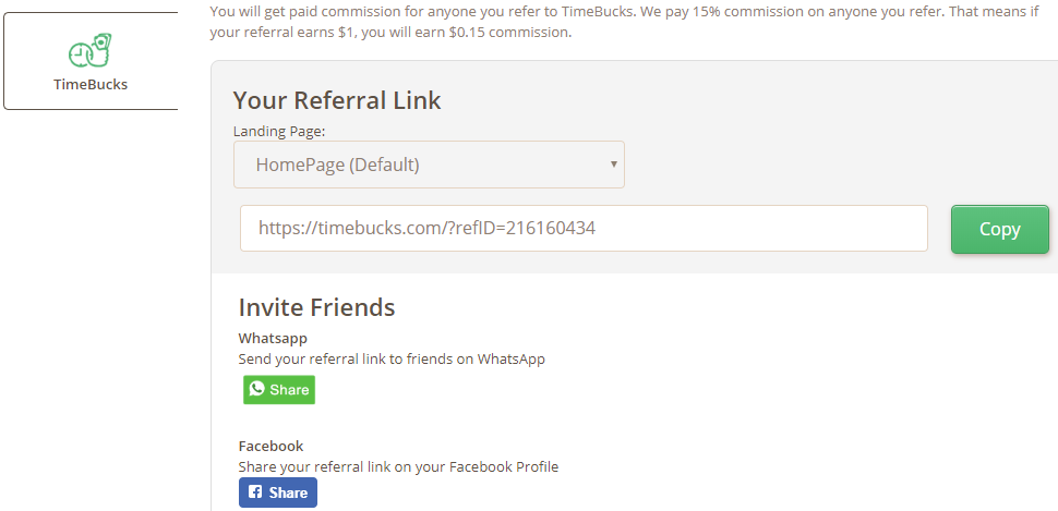 timebucks affiliate program