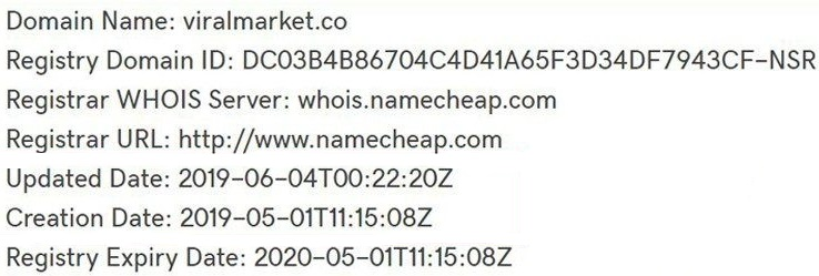 viralmarket.co domain registration