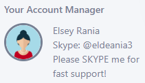 account manager info