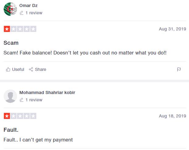 negative reviews scam