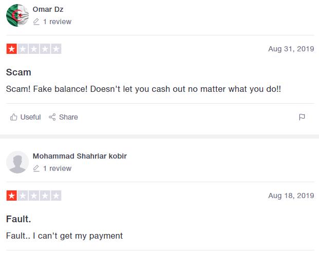 negative reviews scam