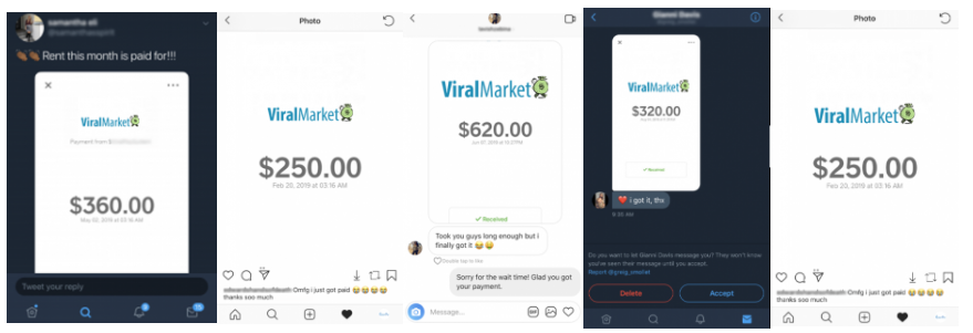 viral market payment proof