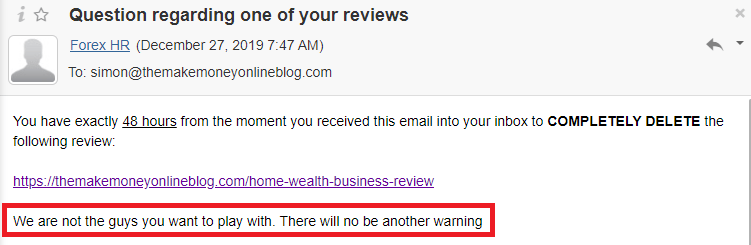 home wealth business scam