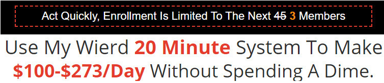 20 Minute Cash System Scarcity Tactic