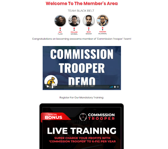 Commission Trooper Member's Area