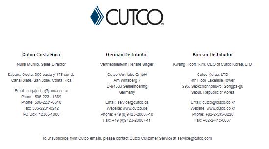 Cutco Website