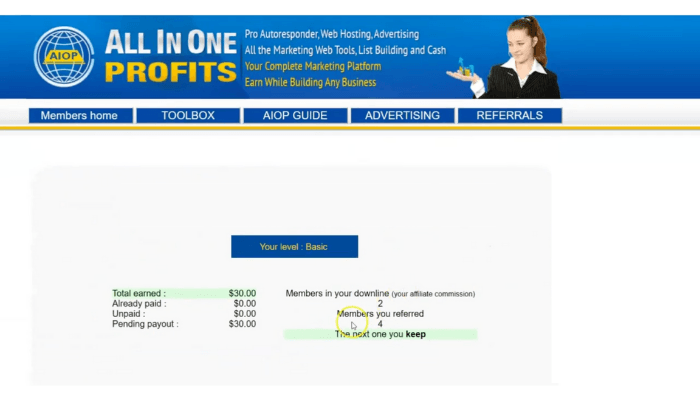All In One Profits Members' Area
