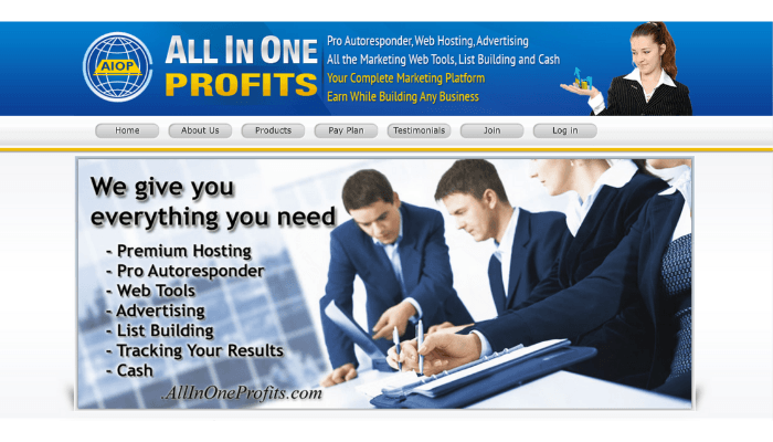 All In One Profits Website
