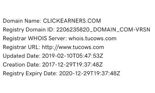 ClickEarners Domain Registation
