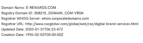 E-Rewards Domain Details