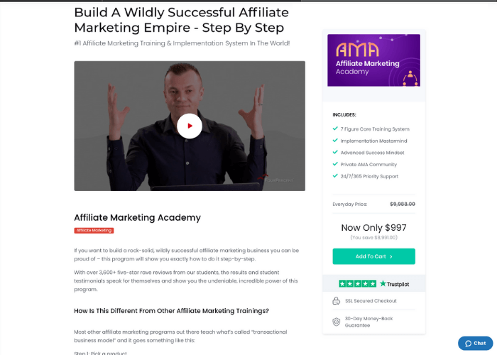 Four Percent Group Affiliate Marketing Academy