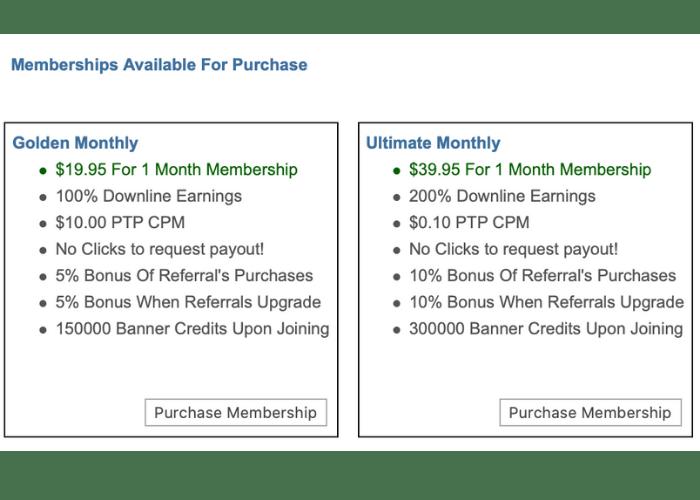 Two Dollar Click Paid Membership