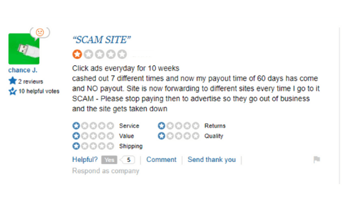 Two Dollar Click Scam Review