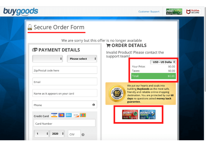 "Lotto Destoyer ""Secure"" Order Form"