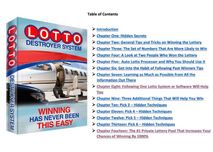 Lotto Destroyer eBook