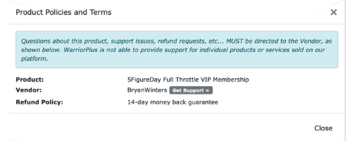 5 Figure Day Full Throttle Refund Policy