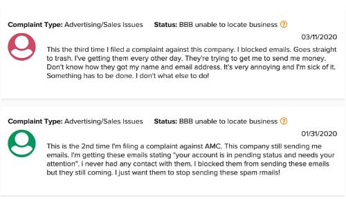 BBB.org Affiliate Millionaire Club Complaints