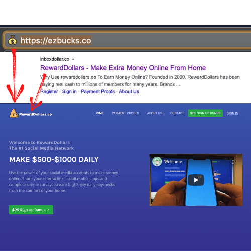 EZ Bucks, InboxDollar.co, RewardDollars.co Similarities