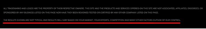 Instant Success Site Disclaimer