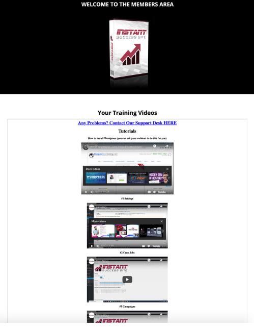 Instant Success Site Members Area