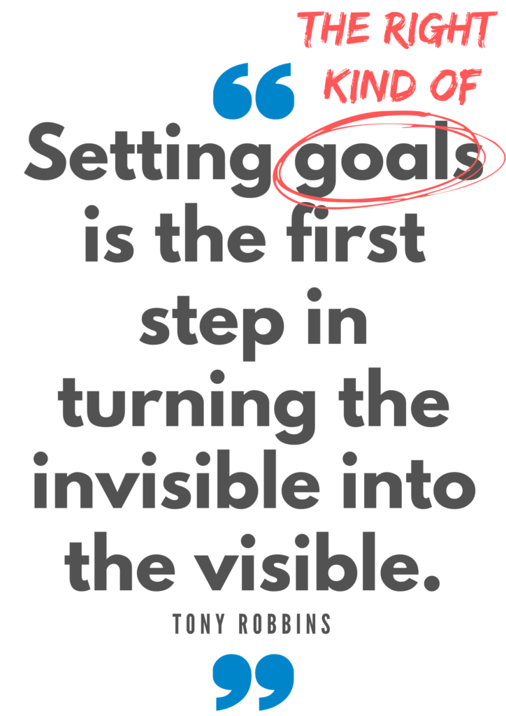 Setting goals is the first step in turning the invisable into the visible Tony Robbins quote