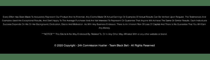 24h Commission Hustler Disclaimer