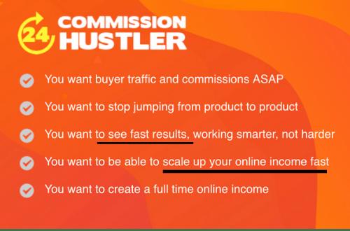 24h Commission Hustler Get-Rich-Quick Scheme