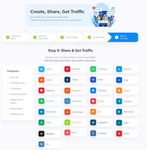 Commission Blaster Traffic Sources