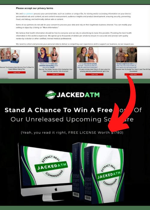 JackedATM Ad Unrelated Redirect