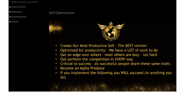 Ministry Of Freedom Module 1