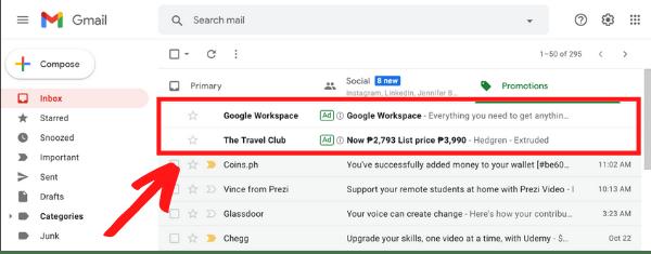 The No List Secret Gmail Ads