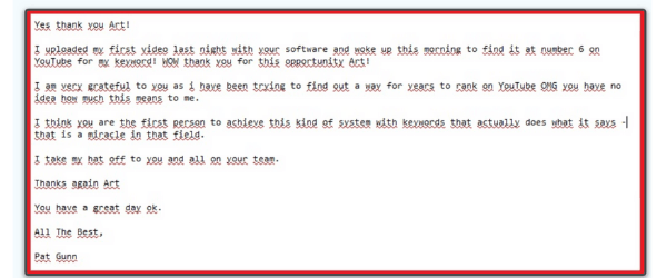 Traffic Turbine Notepad Testimonial
