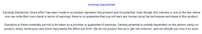 Affiliate Funnel Bots Disclaimer