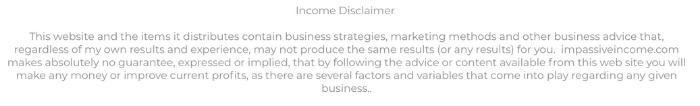 Freebie Commissions Income Disclaimer