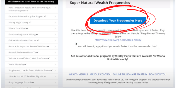 Overnight Millionaire Supernatural Frequencies