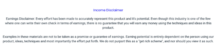 Resell Bots Income Disclaimer