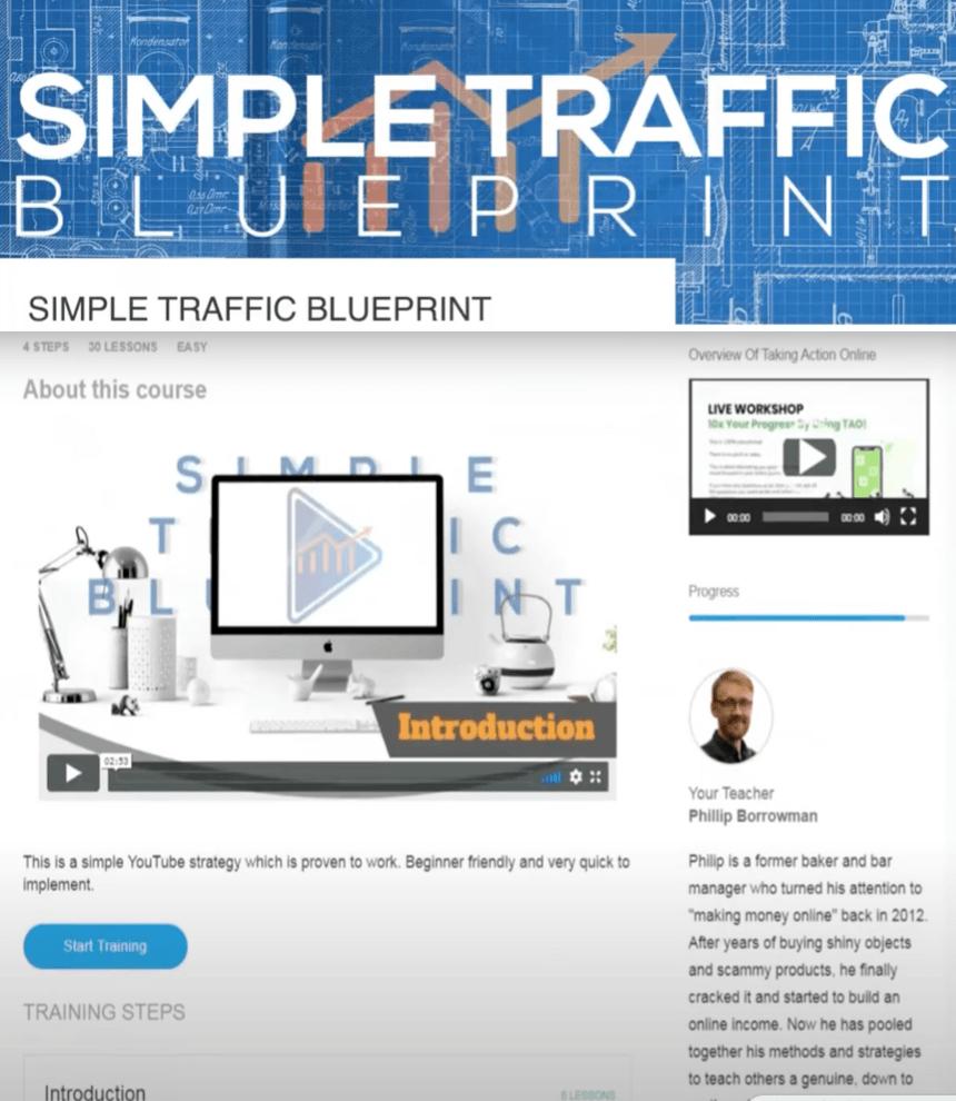Simple Traffic Blueprint Members' Area Area