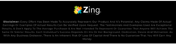 Zing Disclaimer