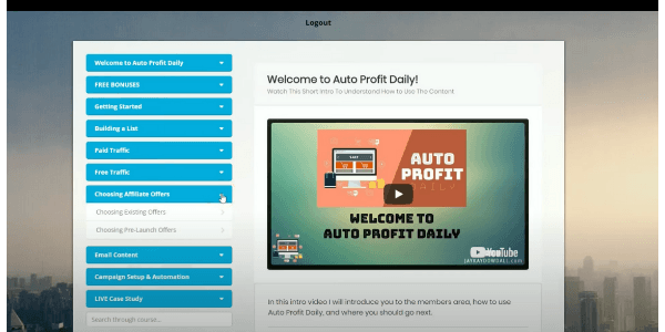 Auto Profit Daily Choosing Affiliate Offers