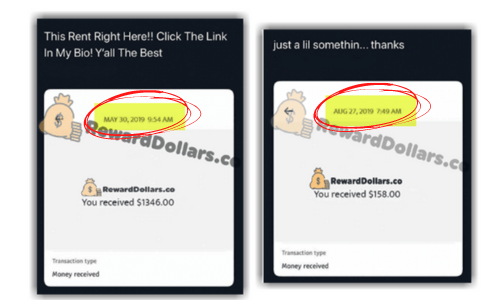 Reward Dollars Fake Dated Payouts