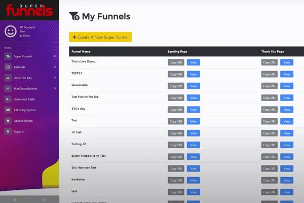 Super Funnels Dashboard