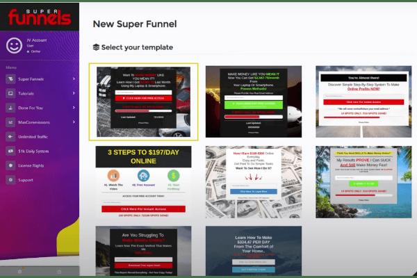 Super Funnels Pre-Built Squeeze Pages