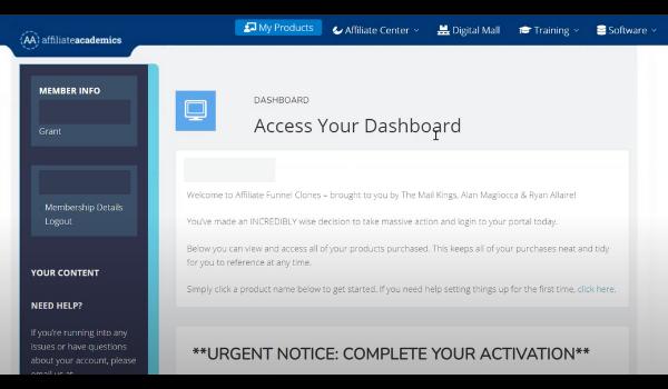 Affiliate Funnel Clones 2.0 Dashboard