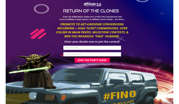 Affiliate Funnel Clones 2.0 Sales Page