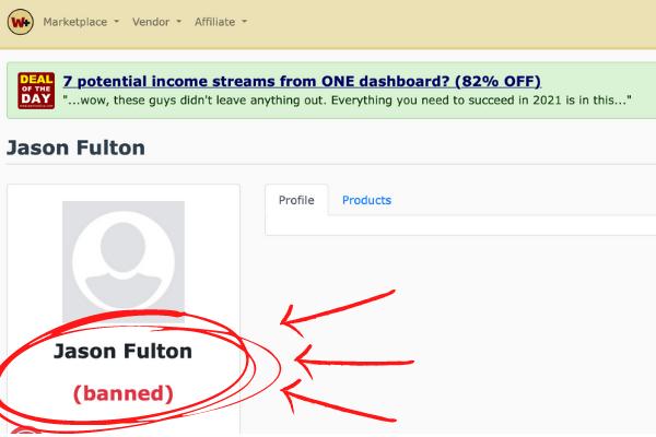 Jason Fulton Banned In WarriorPlus