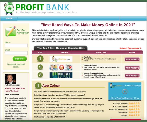 Profit Bank Members' Area