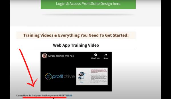 Profit Suite Promoting GetResponse